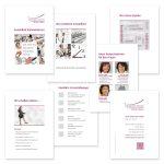 Modulare Imagedarstellung mit Einzelkarten in Acrylaufsteller