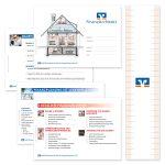 Modulare Präsentationskarten mit Banderole aus Transparentpapier